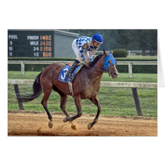 Thoroughbred Blue #3 Race Horse Card