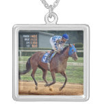 Thoroughbred Blue Horse #3 Necklace