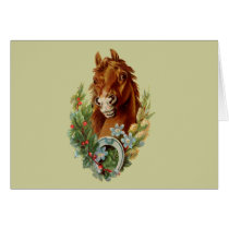 Thoroughbred Christmas Wishes Card