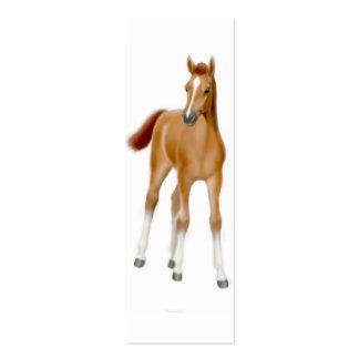 Thoroughbred Foal Bookmark Double-Sided Mini Business Cards (Pack Of 20)