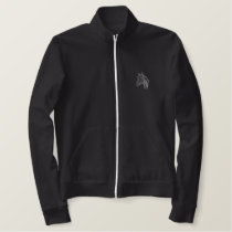 Thoroughbred Head Outline Embroidered Jacket