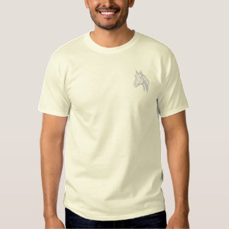 Thoroughbred Head Outline Embroidered T-Shirt