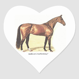 Thoroughbred Heart Sticker