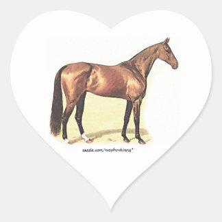 Thoroughbred Heart Sticker