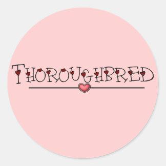 Thoroughbred Hearts Classic Round Sticker