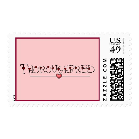Thoroughbred Hearts Postage Stamp