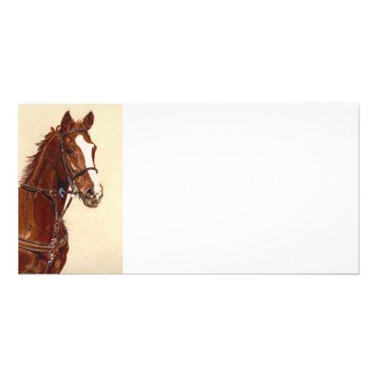 Thoroughbred Horse Art Card