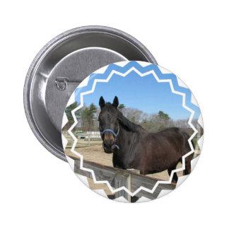 Thoroughbred Horse Button