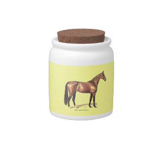 Thoroughbred Horse Candy Dishes