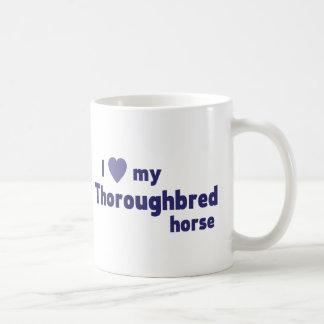 Thoroughbred horse coffee mug