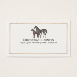 Equestrian trainer business cards templates zazzle thoroughbred horse equestrian business card yadclub Images