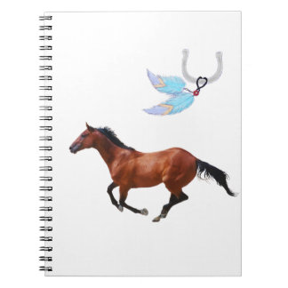 Thoroughbred Horse Feathers Notebook