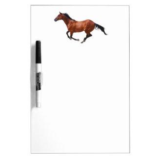 Thoroughbred horse galloping Dry Erase Board