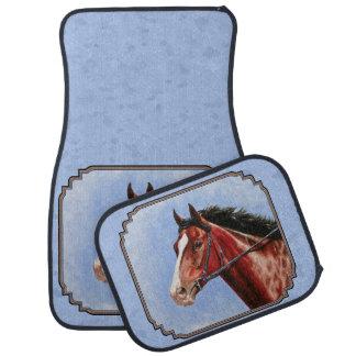 Thoroughbred Horse Racehorse Blue Car Mat