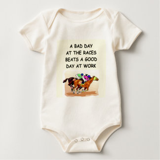 thoroughbred horse racing baby bodysuit