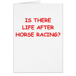 thoroughbred horse racing card
