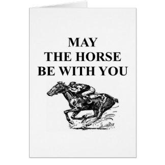 thoroughbred horse racing greeting card