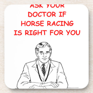 thoroughbred horse racing drink coasters