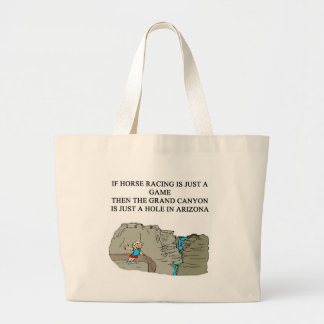 thoroughbred horse racing design jumbo tote bag