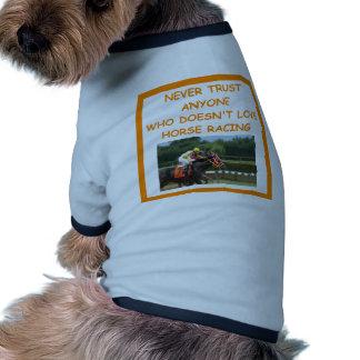 thoroughbred horse racing dog shirt