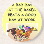 thoroughbred horse racing drink coaster