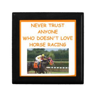 thoroughbred horse racing jewelry box