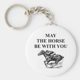 thoroughbred horse racing keychain