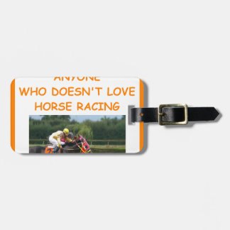 thoroughbred horse racing luggage tags
