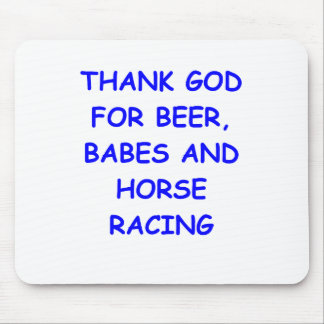 thoroughbred horse racing mousepads