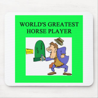 thoroughbred horse racing mouse pad