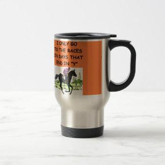 thoroughbred horse racing mug