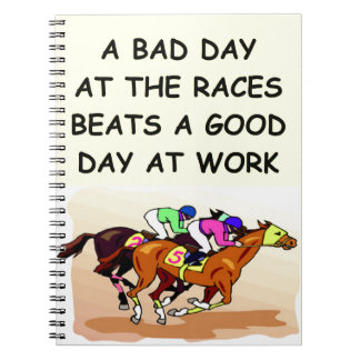 thoroughbred horse racing note book