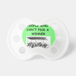 thoroughbred horse racing pacifiers