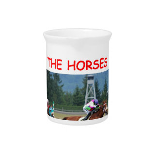 thoroughbred horse racing beverage pitcher