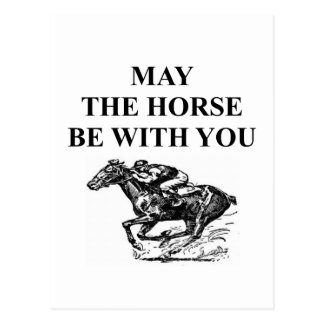 thoroughbred horse racing postcard