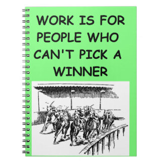 thoroughbred horse racing spiral notebook