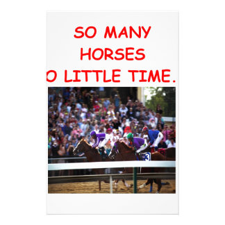 thoroughbred horse racing stationery