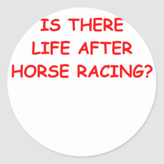 thoroughbred horse racing stickers