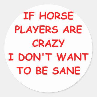 thoroughbred horse racing sticker