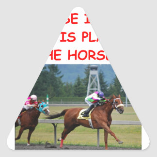 thoroughbred horse racing triangle sticker