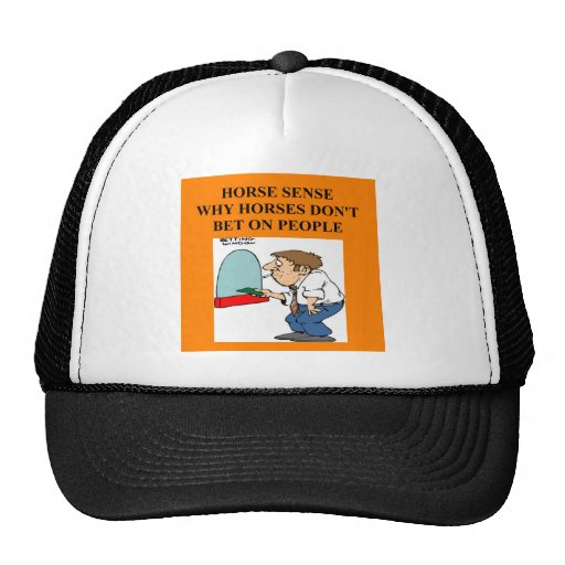 thoroughbred horse racing trucker hat