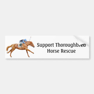 Thoroughbred Horse Rescue Bumper Sticker