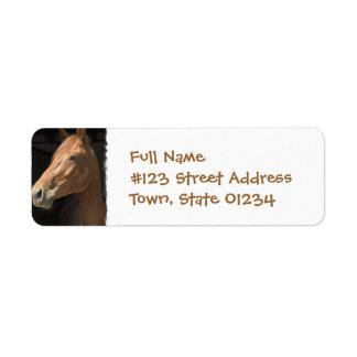 Thoroughbred Horse Return Address Label