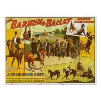 Thoroughbred Horse Show Circus Poster