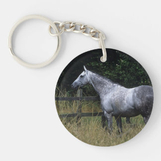 Thoroughbred Horse Standing by Fence Keychain