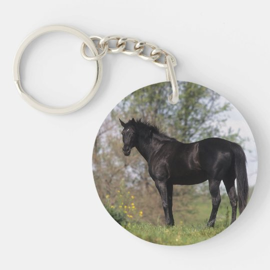 Thoroughbred Horse Standing Keychain