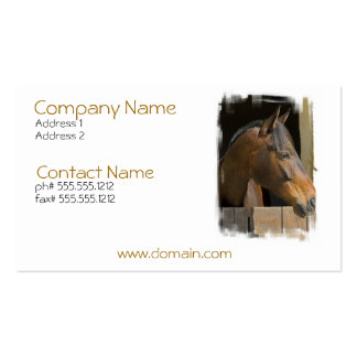 Thoroughbred Horses Business Card