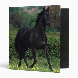 Thoroughbred Horses in Flower Field Binder