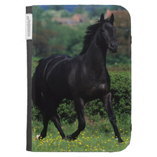 Thoroughbred Horses in Flower Field Kindle Cases
