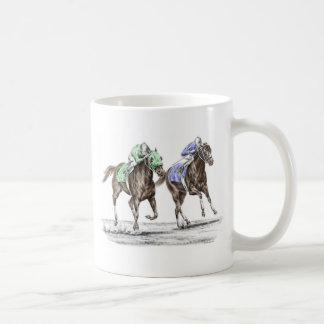 Thoroughbred Horses Racing Classic White Coffee Mug